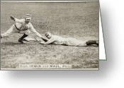Philadelphia Phillies Greeting Cards - BASEBALL GAME, c1887 Greeting Card by Granger