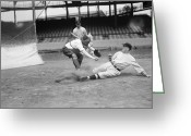Umpire Greeting Cards - BASEBALL GAME, c1915 Greeting Card by Granger