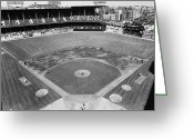 Brooklyn Dodgers Stadium Greeting Cards - BASEBALL GAME, c1953 Greeting Card by Granger