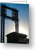 Cardinals World Series Greeting Cards - Baseball in St. Louis Greeting Card by Melissa Goodrich