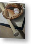 Players Greeting Cards - Baseball Greeting Card by Mikayla Henderson