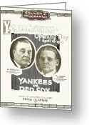 New York Yankees Greeting Cards - Baseball Program, 1923 Greeting Card by Granger