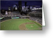 Ballparks Greeting Cards - Baseball Target Field  Greeting Card by Paul Plaine
