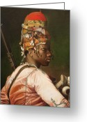Fine Art - People Greeting Cards - Bashi Bazouk After Gerome Greeting Card by Enzie Shahmiri