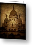Dark Greeting Cards - Basilica Greeting Card by Andrew Paranavitana