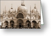 Basilica San Marco Greeting Cards - Basilica of San Marco Greeting Card by Donna Corless
