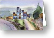 Assisi Greeting Cards - Basilica of St Francis  Assisi Greeting Card by Lydia Irving