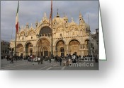 Basilica San Marco Greeting Cards - Basilica San Marco Greeting Card by Bernard Jaubert