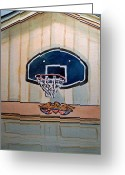 Sketchbook Greeting Cards - Basketball Hoop Sketchbook Project Down My Street Greeting Card by Irina Sztukowski