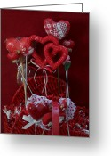 Size Different Greeting Cards - Baskets of Love Greeting Card by Lila Mattison