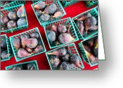 Figs Greeting Cards - Baskets Of Ripe Figs Greeting Card by Dina Calvarese