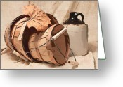 Pottery Photo Greeting Cards - Baskets With Crock I Greeting Card by Tom Mc Nemar