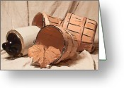 Pottery Photo Greeting Cards - Baskets With Crock II Greeting Card by Tom Mc Nemar