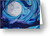 Magick Greeting Cards - Basking in my moonlight Greeting Card by Samantha Rochard