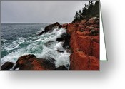 Bass Harbor Greeting Cards - Bass Harbor Head Lighthouse Greeting Card by Rick Berk
