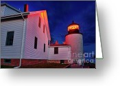 Bass Harbor Greeting Cards - Bass Harbor Lighthouse Maine Greeting Card by John Greim