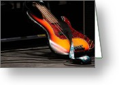 Live Music Greeting Cards - Bass Greeting Card by Lauri Novak