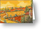 Vacation Greeting Cards - Bassa Toscana Greeting Card by Guido Borelli