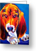 Dawgart Greeting Cards - Basset - Ears Greeting Card by Alicia VanNoy Call
