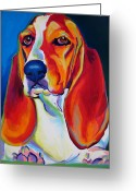 Yellow Dog Greeting Cards - Basset Hound - Maple Greeting Card by Alicia VanNoy Call