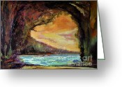 Julianne Felton Greeting Cards - Bat Cave St. Philip Barbados 12-08 julianne felton Greeting Card by Julianne Felton