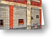 Brick Greeting Cards - Bates Mill No 5 Greeting Card by Bob Orsillo