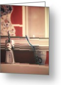 Teeth Greeting Cards - Bathroom Greeting Card by Joana Kruse
