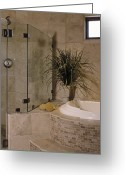 Upscale Greeting Cards - Bathroom Greeting Card by Robert Pisano