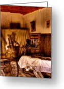 Wash Board Greeting Cards - Baths - No Couples - At the Bonnie Springs Ranch Old West Town Greeting Card by David Patterson