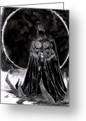 Batman Greeting Cards - Batman Art Greeting Card by Dheeraj Verma