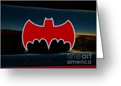 Gotham City Greeting Cards - Batman - Batmobile - Dark Knight Greeting Card by Paul Ward