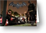 Batman Greeting Cards - Batman The Dark Knight Rises Newark New Jersey Premiere Event II Greeting Card by Lee Dos Santos