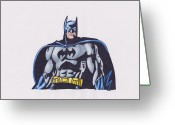 Batman Greeting Cards - Batman Greeting Card by Toni Jaso