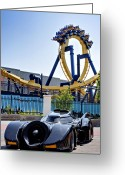 Batman Greeting Cards - Batmans Ride and Batman - The Ride Greeting Card by Ricky Barnard