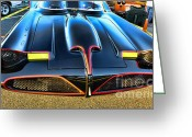 Gotham City Greeting Cards - Batmobile - 2 Greeting Card by Paul Ward