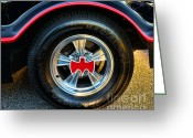 Gotham City Greeting Cards - Batmobile - 3 Greeting Card by Paul Ward