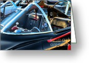 Gotham City Greeting Cards - Batmobile - 4 Greeting Card by Paul Ward