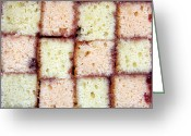 Sweetness Greeting Cards - Battenburg cake Greeting Card by Jane Rix