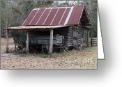 Mixed Media Photo Greeting Cards - Battered Barn - Digital Art Greeting Card by Al Powell Photography USA