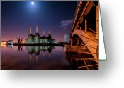 Coal  Greeting Cards - Battersea Power Station Greeting Card by Vulture Labs
