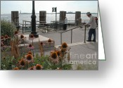 Battery Park Greeting Cards - Battery Park Greeting Card by Mark Gilman