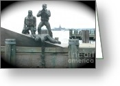 Battery Park Greeting Cards - Battery Park Memorial Greeting Card by Mark Gilman
