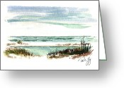 Canals Painting Greeting Cards - Battery Payne Fort Pickens Florida Greeting Card by Paul Gaj