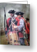 Colonial Scene Greeting Cards - Battle Drums Greeting Card by Randy Steele