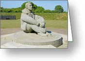 Pilots Greeting Cards - Battle of Britain Memorial Greeting Card by Chris Thaxter