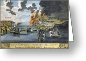 Charlestown Greeting Cards - Battle Of Bunker Hill, 1775 Greeting Card by Granger