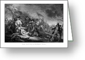 Us Patriot Greeting Cards - Battle of Bunker Hill Greeting Card by War Is Hell Store