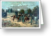 North Painting Greeting Cards - Battle Of Chattanooga Greeting Card by War Is Hell Store