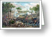 Civil Painting Greeting Cards - Battle of Cold Harbor Greeting Card by War Is Hell Store