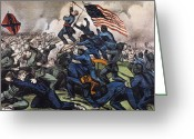 Regiment Greeting Cards - Battle Of Fort Wagner, 1863 Greeting Card by Granger